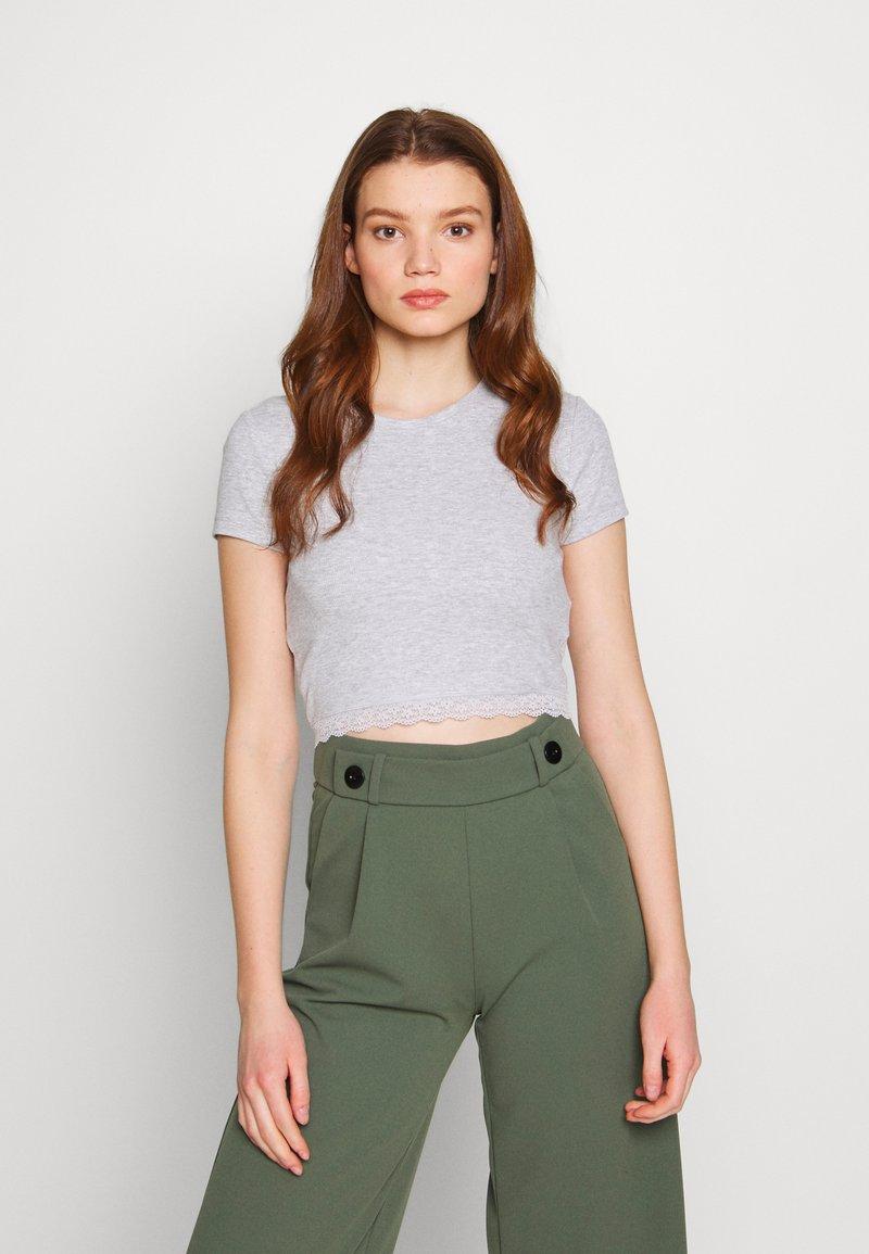 Even&Odd - T-shirts med print - mottled light grey