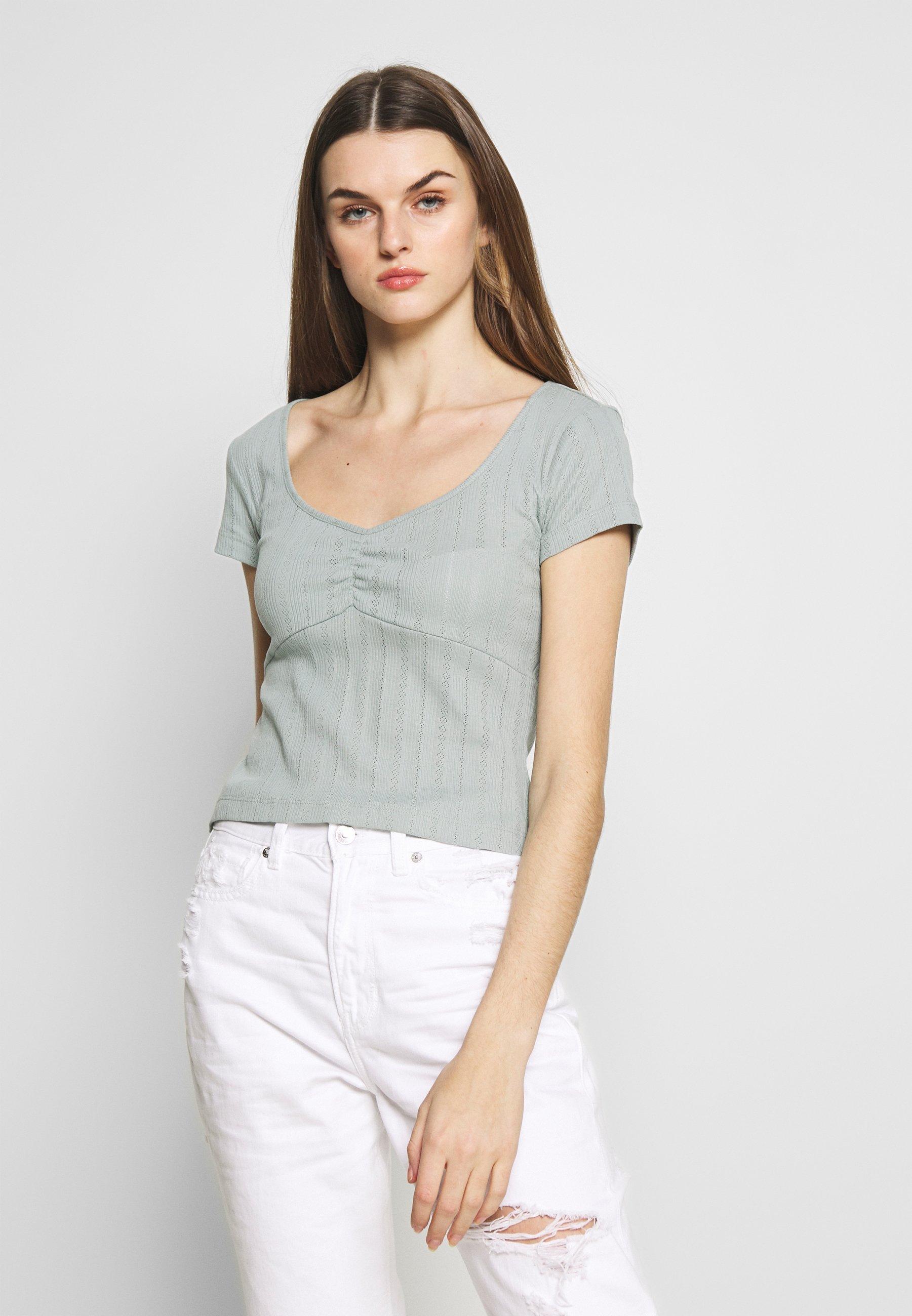 Even&Odd T-shirt basic - light green