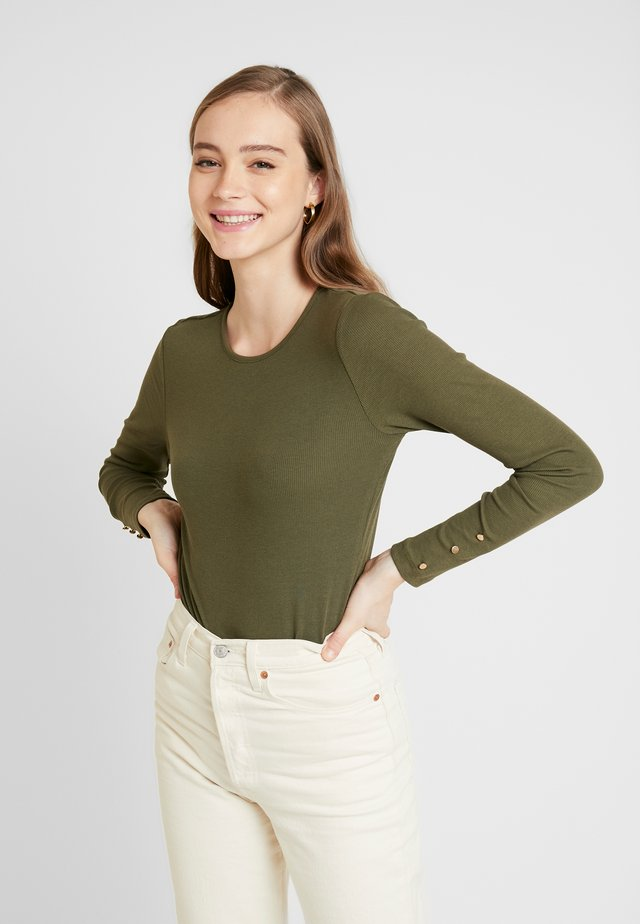 BASIC BODYSUIT - Long sleeved top - scarab