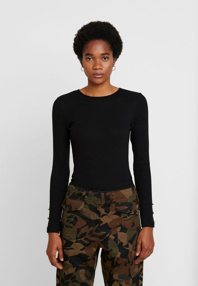BASIC BODYSUIT - Bluzka z długim rękawem - black