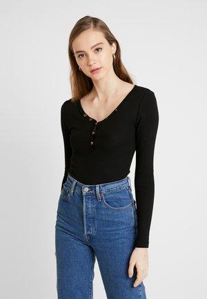BODYSUIT MIT KNÖPFE - T-shirt à manches longues - black