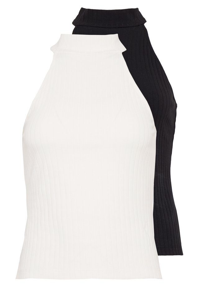 2 PACK - Top - off-white/black