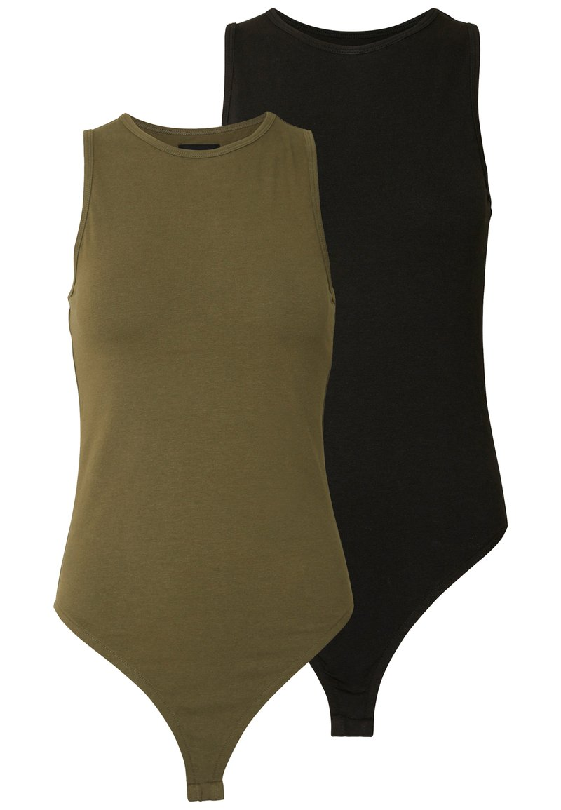 Even&Odd - 2 PACK - Top - khaki/black