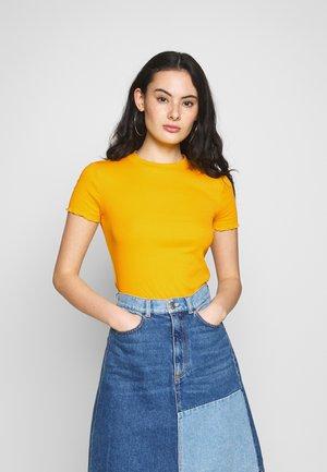 Jednoduché triko - mustard