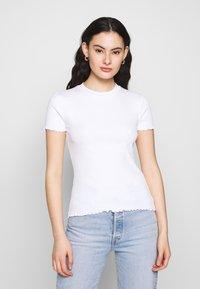 Even&Odd - 2 PACK - T-shirts - mottled grey/white - 1