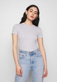 Even&Odd - 2 PACK - T-shirts - mottled grey/white - 3