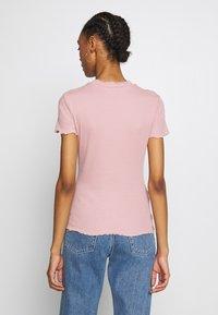 Even&Odd - 2 PACK - Basic T-shirt - khaki/rose - 3