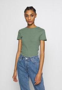 Even&Odd - 2 PACK - Basic T-shirt - khaki/rose - 2