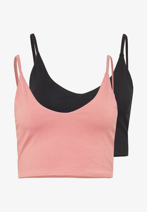 2 PACK - Top - pink/black