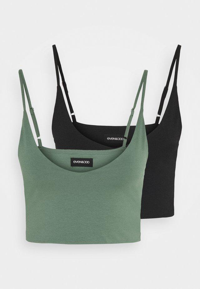 2 PACK - Top - black / green