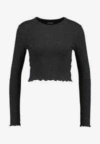 Even&Odd - Maglietta a manica lunga - black - 3