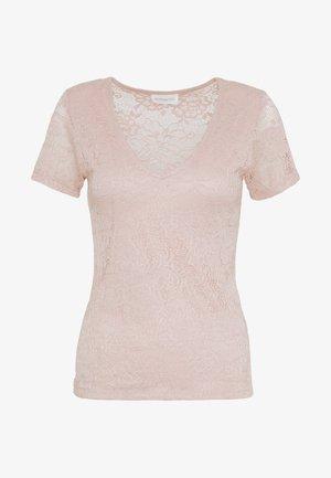 Print T-shirt - pale mauve