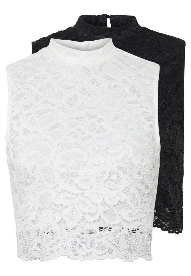2ER PACK - Toppi - white/black