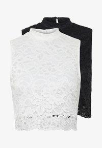 Even&Odd - 2ER PACK - Top - white/black - 5