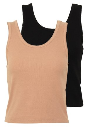 2 PACK - Top - light brown/black