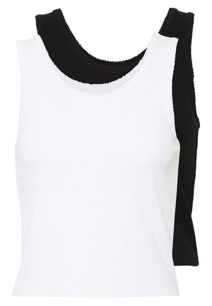 2 PACK - Top -  black/ white