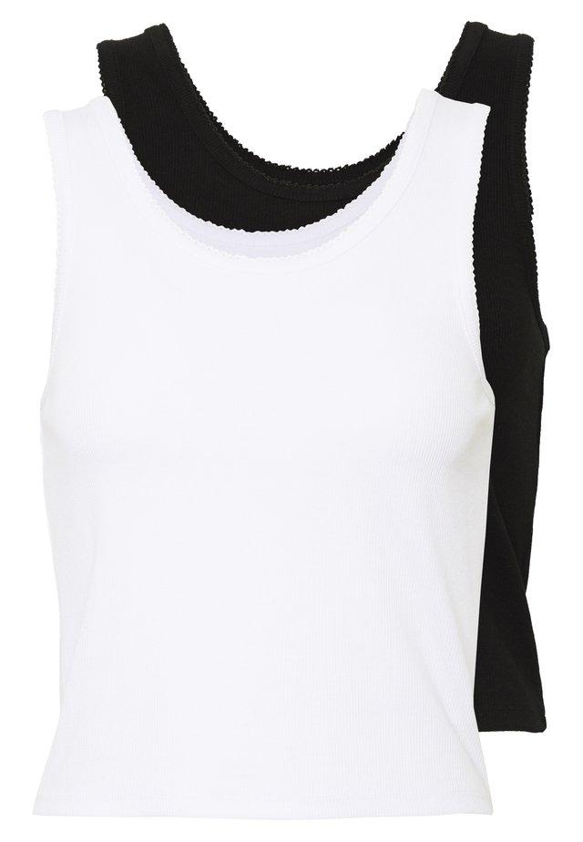 2 PACK - Toppe -  black/ white