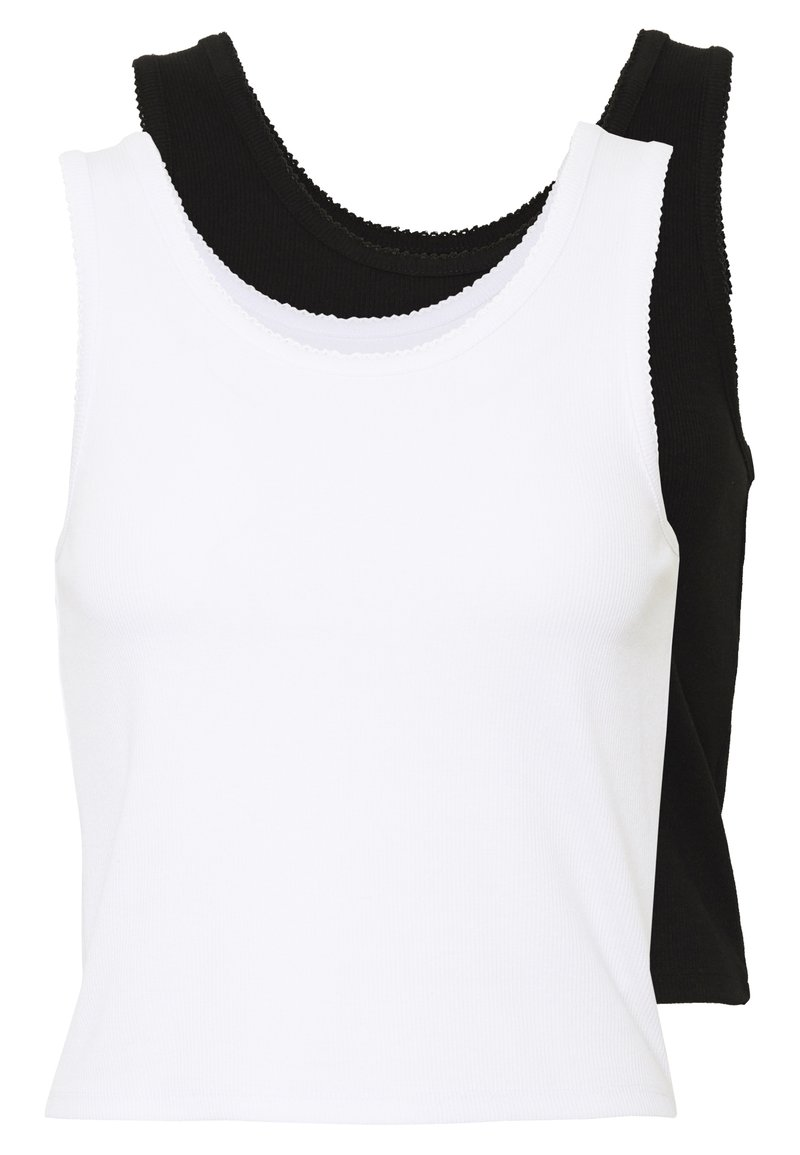 Even&Odd - 2 PACK - Top -  black/ white