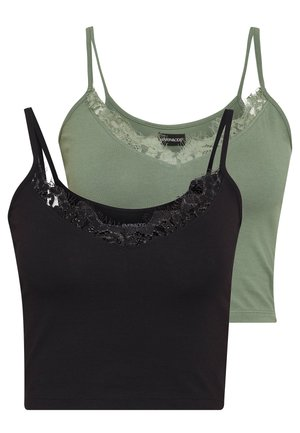 2 PACK - Top - green/black