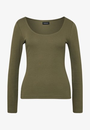 Long sleeved top - olive night
