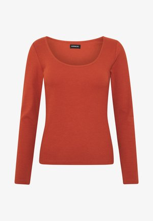 Long sleeved top - potter's clay