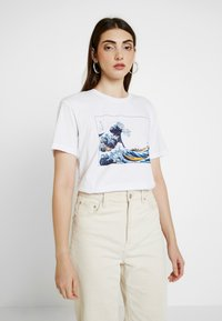 Even&Odd - T-shirts med print - white - 0