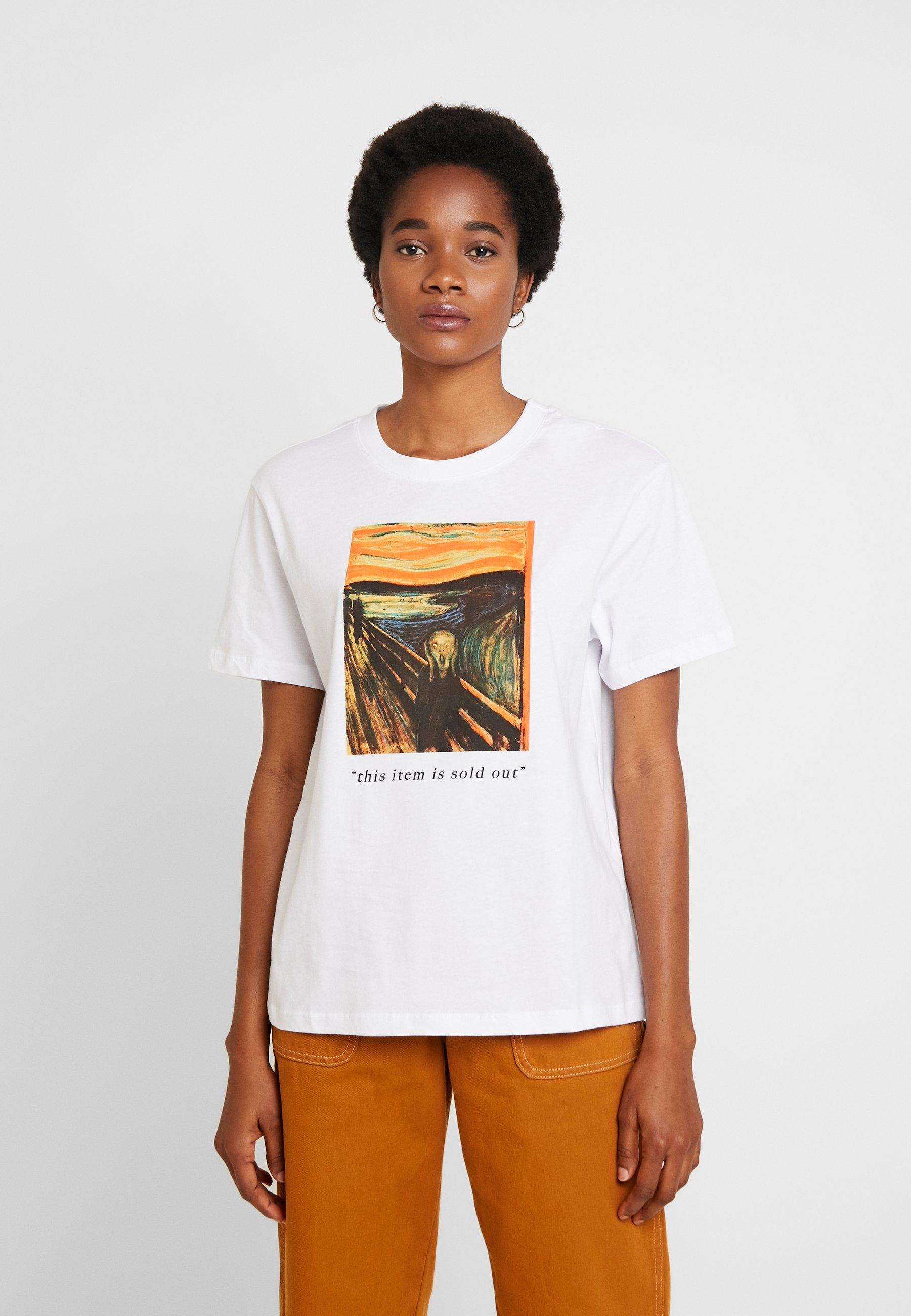 Even&Odd T-shirt z nadrukiem - white