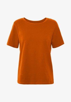 BASIC ROUND NECK SHORT SLEEVES - T-shirts - potter's clay