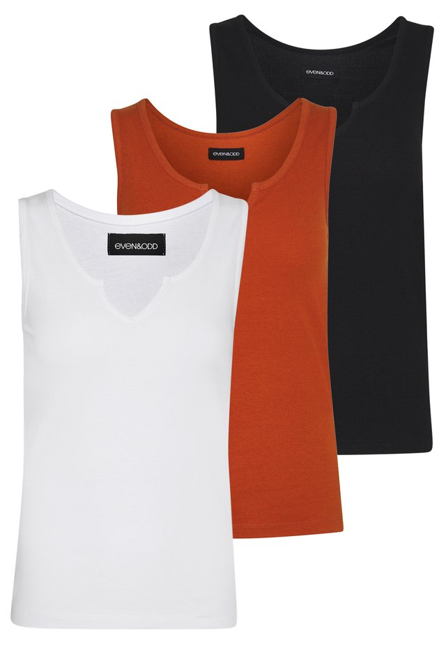 3 PACK  - Top - white/red/black