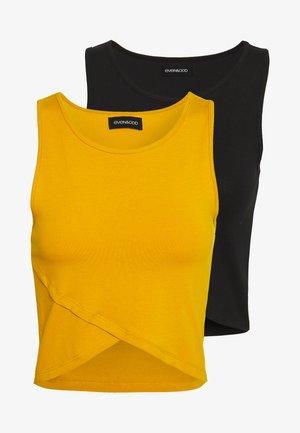 Top - black/golden yellow