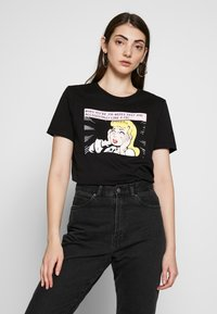 Even&Odd - HATTIE POP ART  - T-shirt imprimé - black - 0