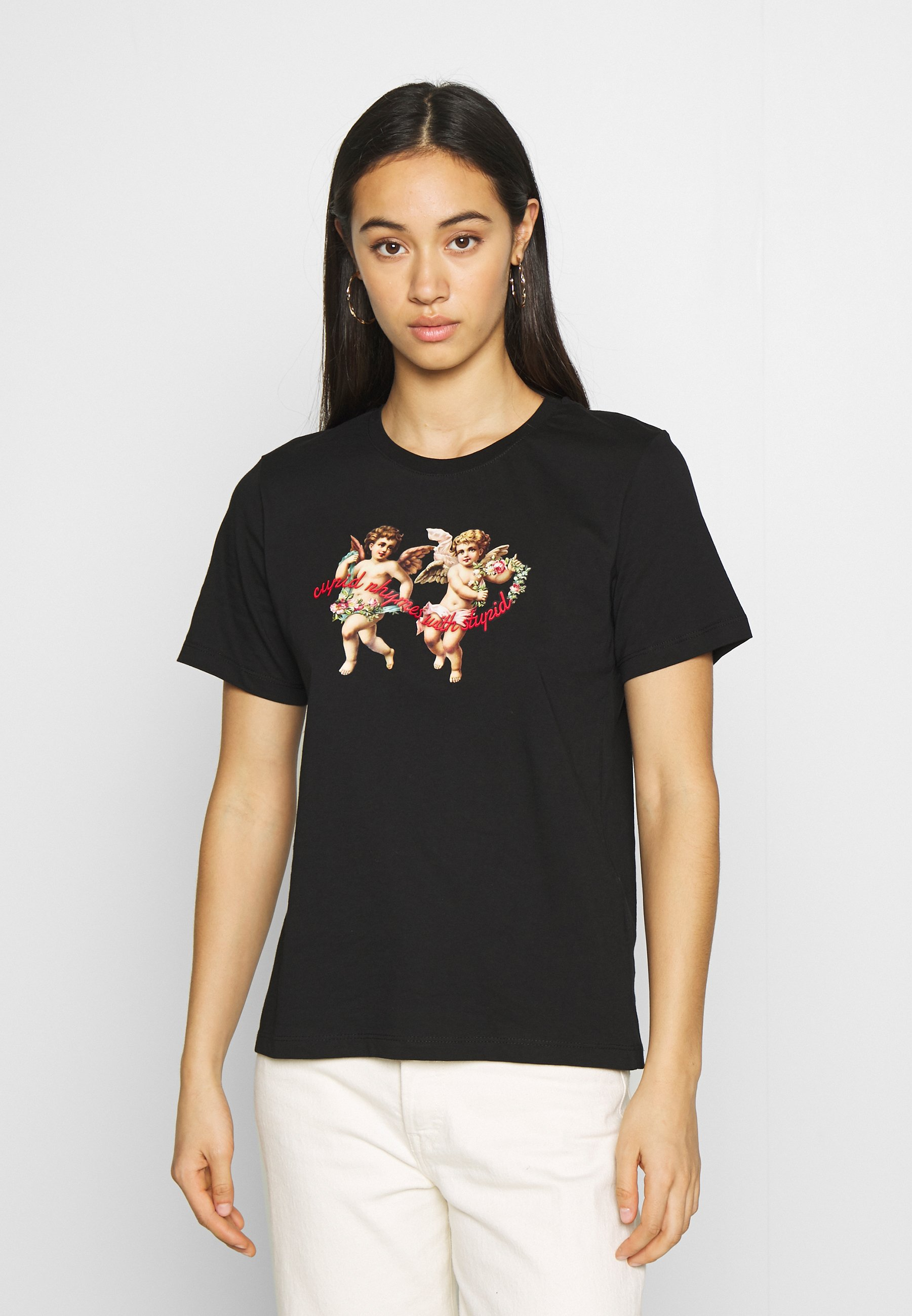 Even&Odd T-shirt z nadrukiem - black