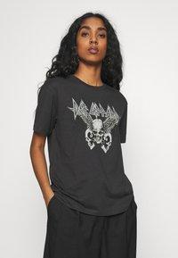 Even&Odd - Print T-shirt - anthracite - 0