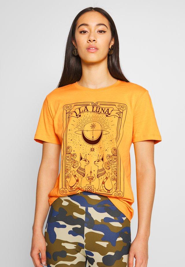 T-shirt med print - mustard