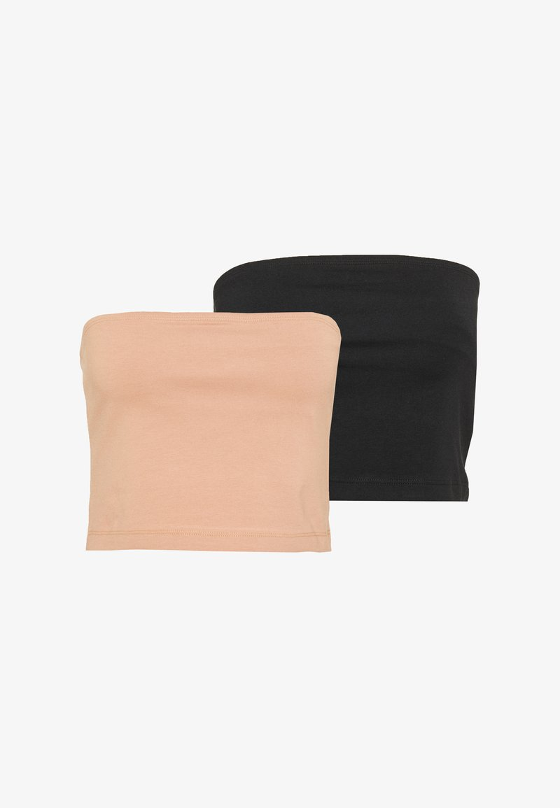 Even&Odd - 2 PACK - Top - beige/black