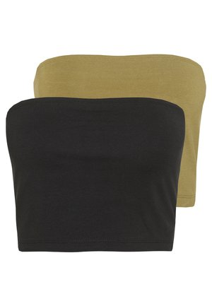 2 PACK - Top - khaki/black