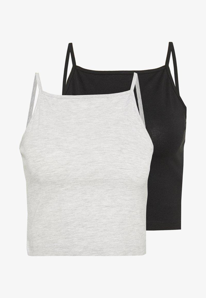 Even&Odd - Topper - mottled grey/black