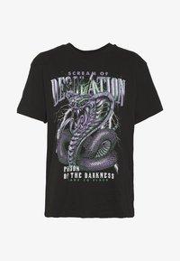 Even&Odd - T-shirt con stampa - black - 3