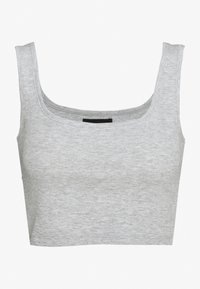 Even&Odd - SQUARE NECK CROP 2 PACK - Débardeur - white/light grey - 2