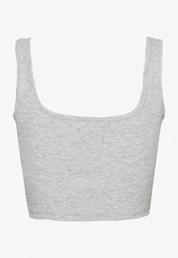 Even&Odd - SQUARE NECK CROP 2 PACK - Débardeur - white/light grey - 3