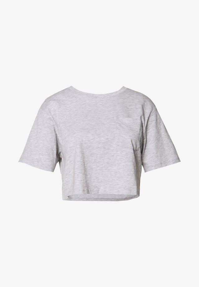 T-paita - mottled light grey