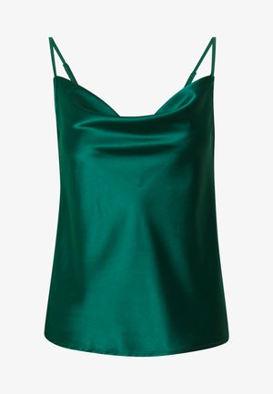 Top - dark green