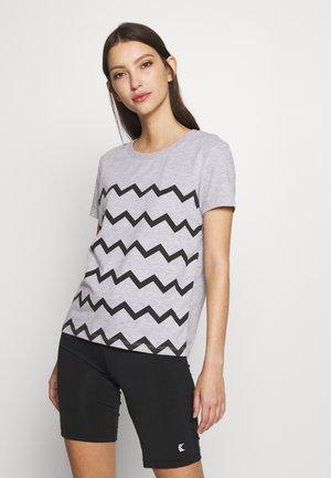 T-shirt print - light grey melange