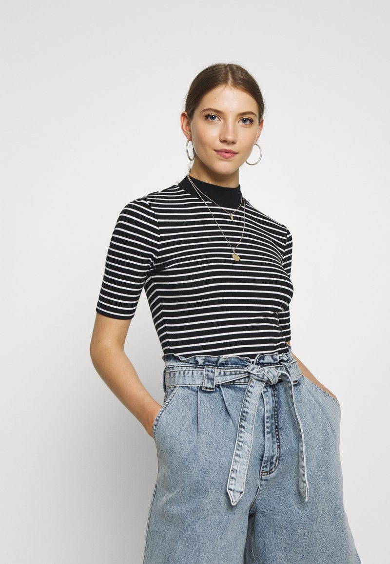 Even&Odd - Camiseta estampada - black/white