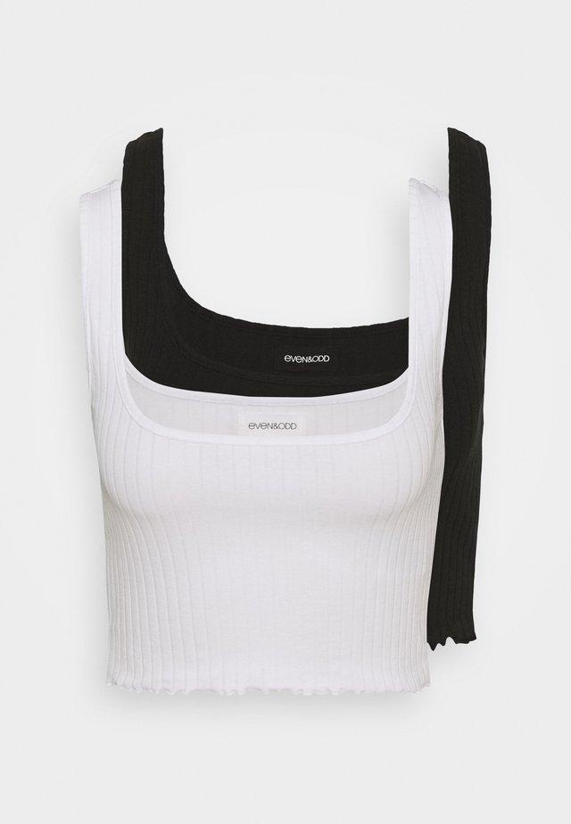2 PACK - Toppe - black/white