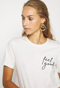 Even&Odd - Print T-shirt - snow white - 3