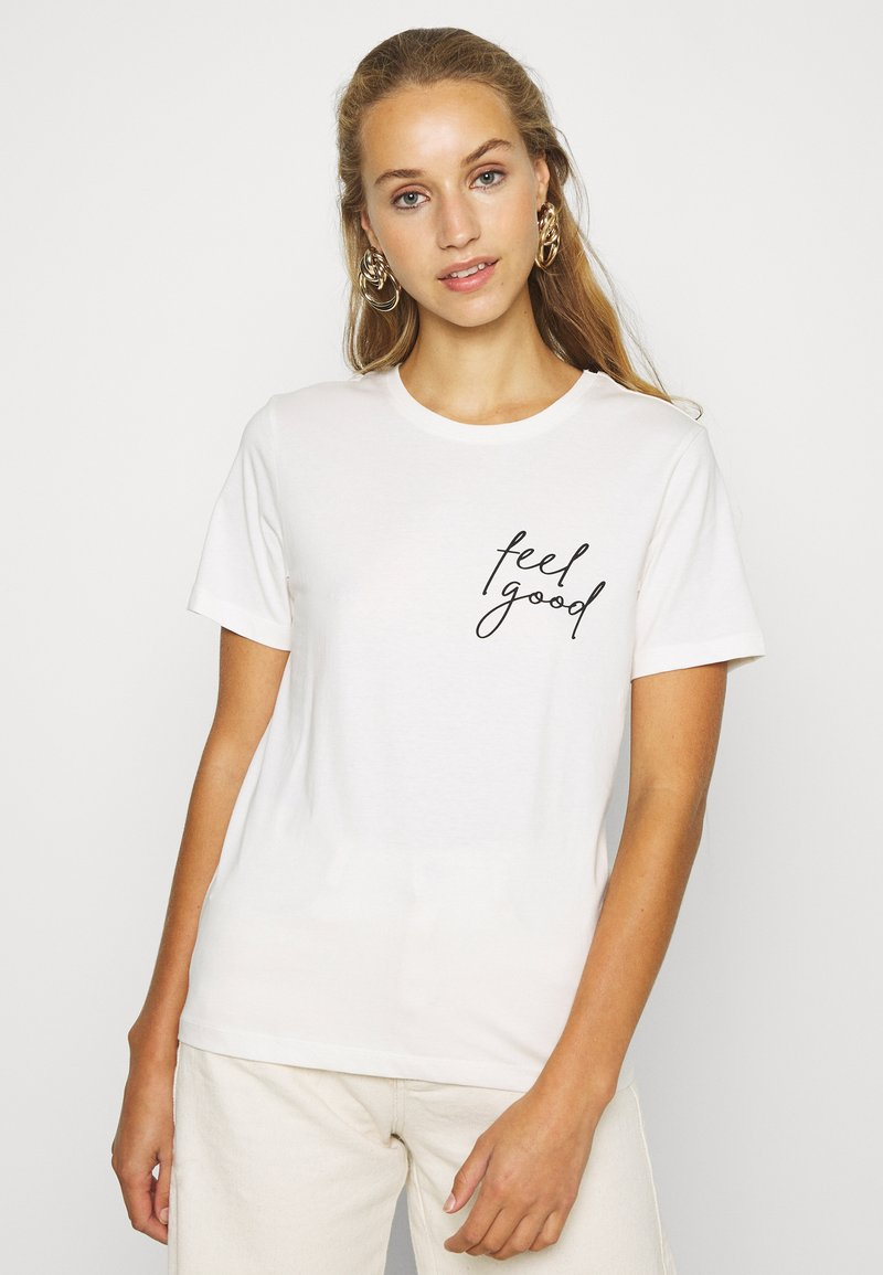 Even&Odd - Print T-shirt - snow white