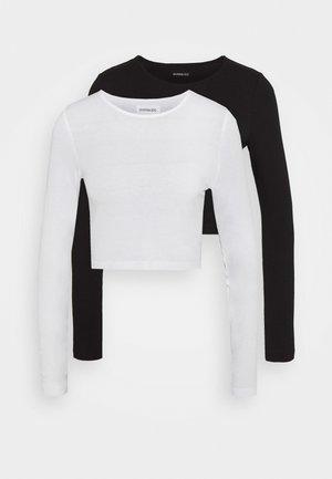 2 PACK - Långärmad tröja - white/black