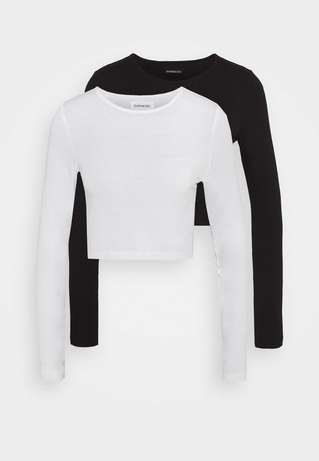 2 PACK - Bluzka z długim rękawem - white/black