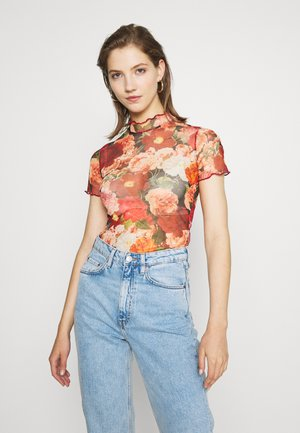 Print T-shirt - red/pink